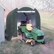 New Mini Garage/storage Shed 8and039w X 8and039h X 12and039l Green