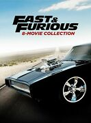 Fast And Furious 8-movie Collection Dvd Paul Walker New
