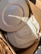 Franciscan Pottery Fine China Arden W/gold Rim Dinner Plates 12