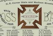 1880 Knights Templar South Side Platoon Members Card Chicago Moss Back P153