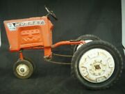 Collectors Vintage 50s 60s Murry 2 Ton Orange Tractor Pedal Cars