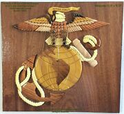 Eagle Globe And Anchor - U.s. Marine Corps - Handcrafted Wood Art Military Plaque