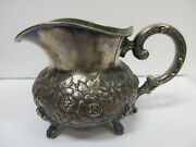 Eugen Ferner Germany Sterling Silver 1964 Finely Tooled 3 1/2andrdquo Creamer Xlnt Cond