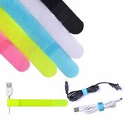Reusable Cord Fastening Cable Ties Straps Earbud Phones Electrical Computer Wire