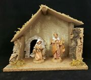 Fontanini Creche Nativity Set With Joseph And Mary Figurine Made In Italy