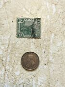 Silver Coin Straits Settlements 1917 10 Cent And Stamp 1895 1 Cent Lot