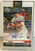 Pete Alonso 2019 Topps Now Baseball Rc 32a 1st Career Hr Autograph Auto 'd/99