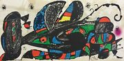 Joan Miro Escultor Iran 1974 Plate Signed Lithograph Art With Certificate