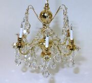 Dollhouse Lighting Real Crystal Chandelier Six Arm Free Shipping Miniature