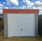 Garadeck Concrete Garage 14and0392and039and039x 8and0395and039and039 Pent Roof Inc Window