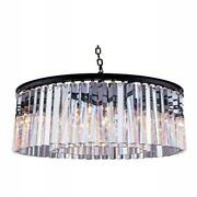 1208 Sydney Collection Pendent Lamp D26 H13.5 Lt8 Mocha Brown Finish Ro...