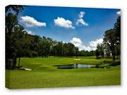 The Shoals Golf Course Alabama Framed Canvas Wall Art Picture Print