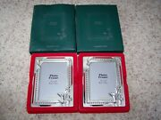 Lot Of 2 Korean Air Picture Frames Airline Aviation Collectibles 3 1/2 X 5 Photo