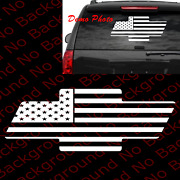 Large - Usa Flag Patriotic Bowtie National Anthem Car Window Decal Bow Tie Us021