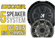 Polaris Rzr Xp Turbo S Complete 5 Speaker Plug-and-play System/stereo