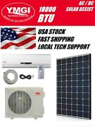 Ymgi 12000 Btu Solar Assist Ductless Mini Split Air Conditioner With Hp 220v