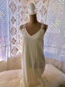 Jens Pirate Booty Maxi Dress Low Back Natural White Crochet Detail Lined Medium