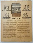 1743 Broughtonand039s Rules Of The Ring Antique Boxing Broadside Muhammad Ali Louis