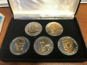 Great American Presidents Double Eagle Commemorative Coin Collection Silver Gold