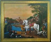 Masterpiece The Deer Hunt Oil On Canvas By Artist Guy Foster