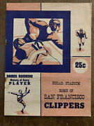 1944 Hollywood Rangers V San Francisco Clippers American League Football Program