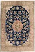 Vintage Oriental Handknotted Silk Rug 7and039 X 10and039