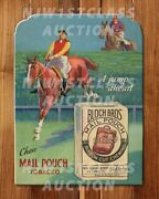 Vintage 1940s/50s Mail Pouch Advertising Sign Repro - Rare Ad Poster