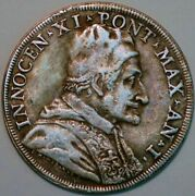 Papale Inocent Xi 1683 Silver Apostolike Medal D+001