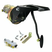 55-59 Chevy Truck Fw 7 Single Brake Pedal Kit Disc/drumlg Oval Blk Pad Parts