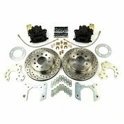 Ford 8 And 9 Axle Drilled And Slotted 5x4.5 11 Rear Disc Brake Conversion Kit V8