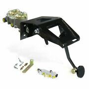 53-56 Ford Truck Fw Manual Brake Pedal Kit Adj Disc/drum3in Blk Pad Front Parts