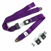 2pt Plum Standard Buckle Lap Seat Belt With Mounting Hardware