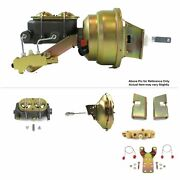 63-66 Chevy Truck F.wall Sbc Mount Power 11 Single Brake Booster Kit Disc/drum