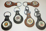 Seconds Quality / British Fire Service/brigade Genuine Leather Key Rings