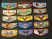Order Of The Arrow Flap Lot Of 28 Flaps, Worn Or Imperfect   Joax