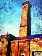 Original Painting On Canvas By Artist William Iii - Power Plant Of Troy Ohio