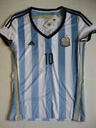 Lionel Messi Argentina 2012 Womenand039s Xl Adidas World Cup Soccer Jersey
