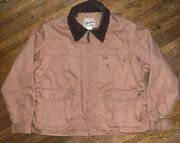 Woolrich Outdoor Guide Collection Mens Barn Coat Hunting Jacket Brown Size Large