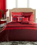 Inc International Concepts Portia Red Twin Duvet Cover Y279