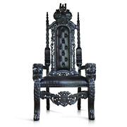 178cm Black Gothic Lion King Throne Chair For Prop Movie Showhouse Club And Hotels