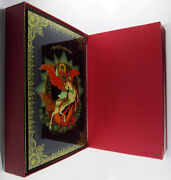 Russian Lacquer Box Saint George The Victorious Factory Certificate 318