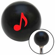 Red Music Note Black Shift Knob With M16 X 1.5 Insert Procharger Classic Nascar