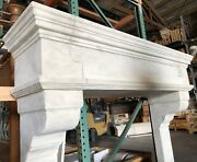 Cast Stone Fireplace Mantle Andndash Authentic Rustic Old World Mantel - Limestone