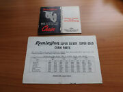 Remington Super Silver Gold Chain Parts And Chain Care, Sharpening With Repair Kit