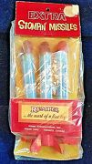 1950s Rempel Vintage Extra Stompinand039 Air Rocket Toy Space Atomic Missile Nip