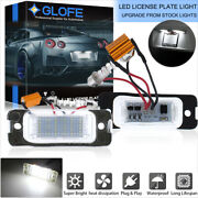 White Canbus Led License Plate Lights For Mercedes Ml Gl R Class W164 X164 W251