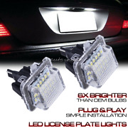 For Mercedes C Cls Cla E S Class White Error Free Led License Plate Lights Assy
