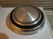 1967 - 1968 Vintage Ford Mustang Gt Hubcaps Dog Dish Metal Wheel Cap Cover