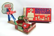 Vintage Snoopy And The Red Baron Skill And Action Marble Airplane Game 1970 Mb