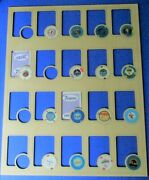 Poker Chip And Card Display Frame Insert For Both Casino Or Harley Chips